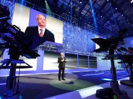 VW-Vorstandsvorsitzender Martin Winterkorn beim Volkswagen Konzernabend im Vorfeld des Genfer Automobilsalons.