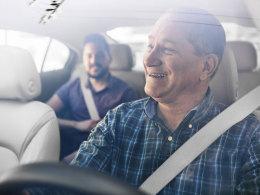 Fahrt im Uber-Taxi