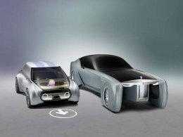 Zukunftsvisionen von BMW: Während der Mini noch zu erkennen ist, wirkt der Rolls Royce etwas beunruhigend.