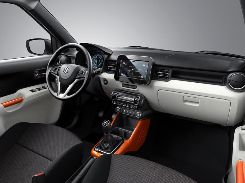 Suzuki Ignis Innenraum Das Sieht Modern Aus Wohnzimmer Mit Orange Und Titanfarbenen Akzenten Plus Touchscreen