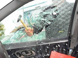 Nichts im Wagen lassen!