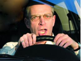 Schimpfender Autofahrer