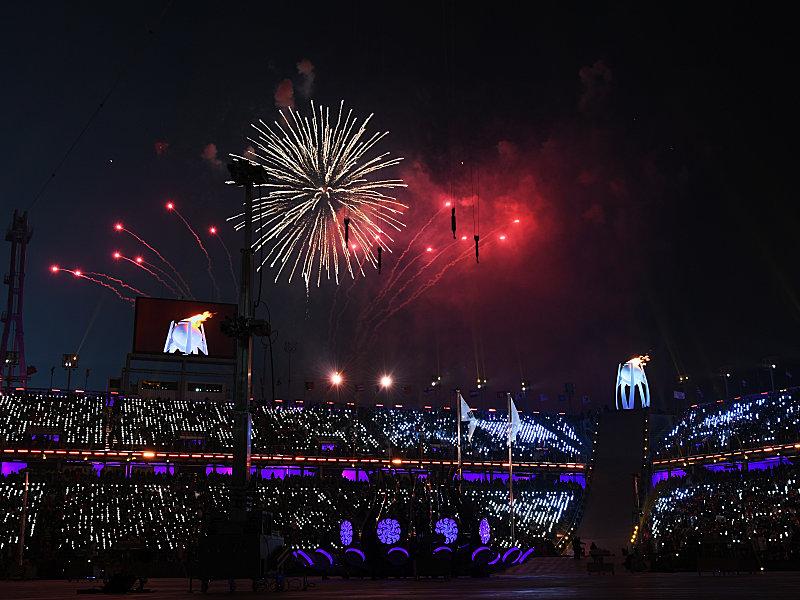 Südkoreas Präsident Moon Jae In eröffnet Olympische Winterspiele