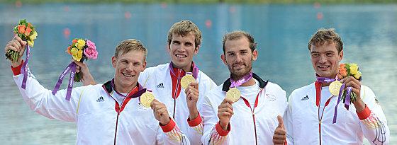 Goldig: Karl Schulze, Philipp Wende, Lauritz Schoof und Tim Grohmann (v.l.).