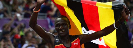 Stephen Kiprotich bejubelt Gold für Uganda