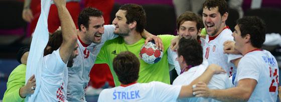 Medaillenjubel bei den kroatischen Handballern.