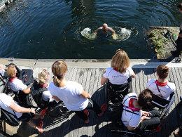Holger Glinicki badet in der Themse