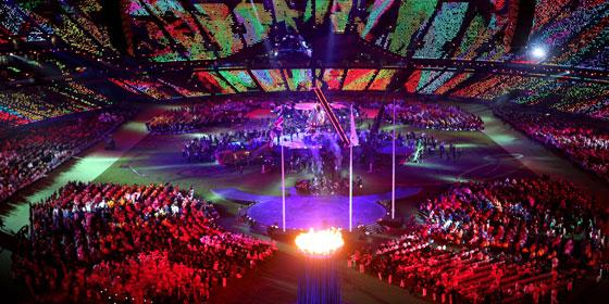 Farbenfroh gestaltet war die Abschlussfeier der Paralympics in London.