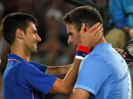 Weltklasse-Tennis & Tr�nen: Del Potro besiegt Djokovic