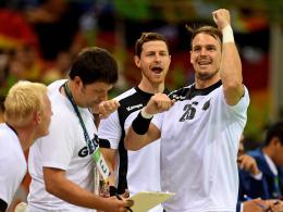 Kai Häfner (re.), Martin Strobel & Co. stehen im Halbfinale der Olympischen Spiele.