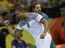 Einer der Matchwinner gegen Brasilien: Frankreichs Musterathlet Daniel Narcisse.