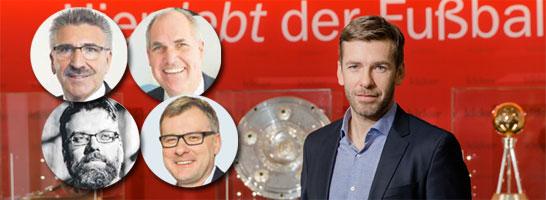 Expertenrunde am Montag: Arnold Plickert, Marc Quambusch, Rainer Vollmer, Jörg Jakob und Moderator Marco Hagemann.