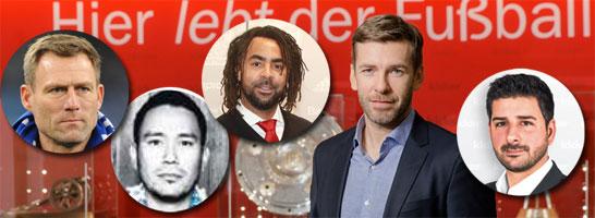 Expertenrunde am Montag: Ingo Anderbrügge, Joel Hong, Patrick Owomoyela, Marco Hagemann und Toni Lieto (v.li.).