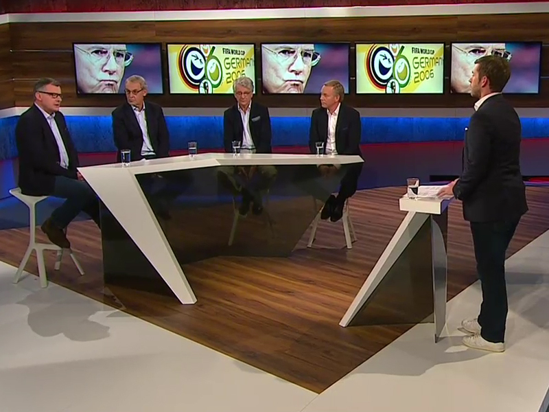 Jörg Jakob, Jörg Wontorra, Marcel Reif & Johannes B. Kerner