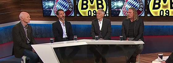 (v.li.) Karlheinz Wild, Thomas Eichin, Rainer Zobel und Michael Schulz