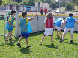 """Fu�ball als Mittel zur Integration: """"CHAMPIONS ohne GRENZEN Kids"""" basiert darauf."""