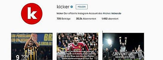 Ergebnisse, Rekorde, Spr�che und mehr: Auf dem offiziellen kicker-Instagram-Account.
