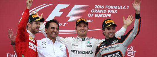 Nico Rosberg gewann die Formel1-Premiere in Baku.