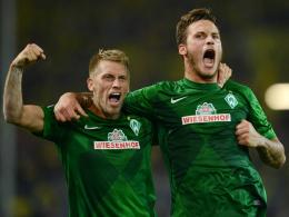 Zwei Bremer geben Gas: Aaron Hunt (li.) und Marko Arnautovic standen auf den Einkaufszetteln vieler Manager.