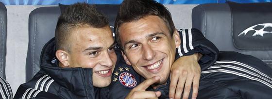 Zwei prominente Bayern auf der Abschussliste: Xherdan Shaqiri (li.) und Mario Mandzukic.