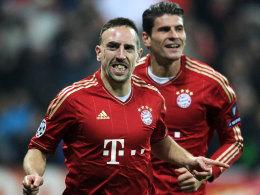 Franck Ribery und Mario Gomez.