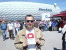 Promitipp-Sieger Thomas Skwirblies besuchte die Partie Bayern-Schalke in der Allianz-Arena.