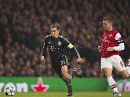 Philipp Lahm und Lukas Podolski