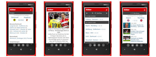 kicker Windows Phone App