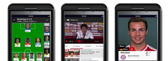 kicker BlackBerry 10 App