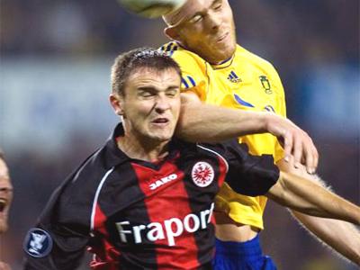 Trifft auf Newcastle, das ihn haben will: Frankfurts eisenharter Aleksandar Vasoski.
