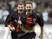 Albert Streits sehenswerter Treffer brachte die Eintracht in Führung.