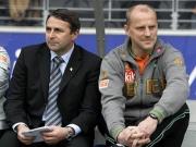 Auf der Suche: Bremens Manager Klaus Allofs und Trainer Thomas Schaaf haben diverse Spieler im Visier.