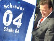 """""""Gazprom"""" steigt als Hauptsponsor bei Schalke 04 ein. Ex-Kanzler Gerhard Schröder ist bei dem russischen Energie-Riesen als Berater tätig."""