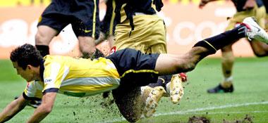 Dortmunder Bauchlandung