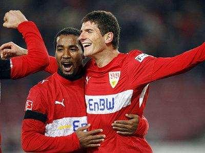 Torschützen unter sich: Cacau und Gomez