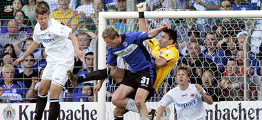 Eintracht-Keeper Nikolov, hier gegen Kucera