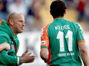 Coach Thomas Schaaf mit Miro Klose