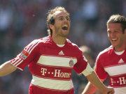 Routinier Mehmet Scholl nach seinem letzten Tor für die Bayern