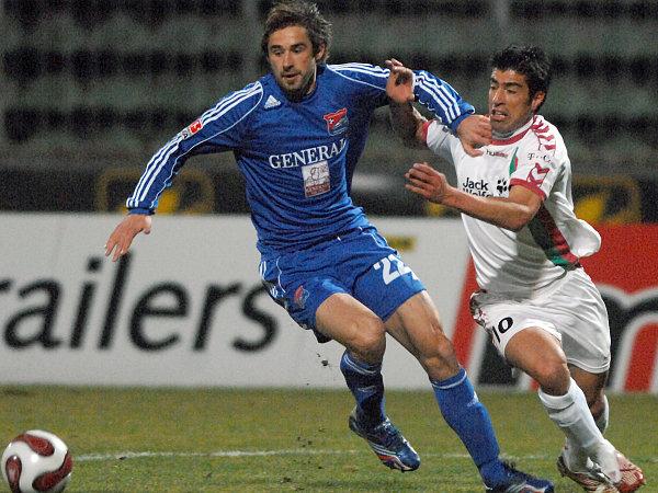 Hachings Majstorovic (li.) gegen Augsburgs Da Costa.