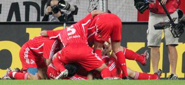 Der 1. FC Köln jubelt