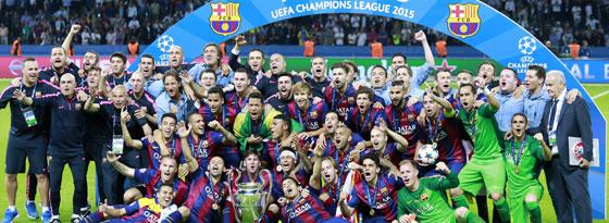2015 triumphierte der FC Barcelona im Finale von Berlin.