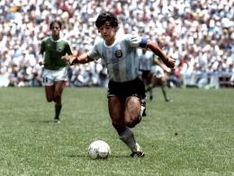 1986 der �berragende Spieler: Argentiniens Kapit�n Diego Armando Maradona.