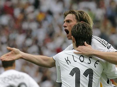 Miroslav Klose und Tim Borowski