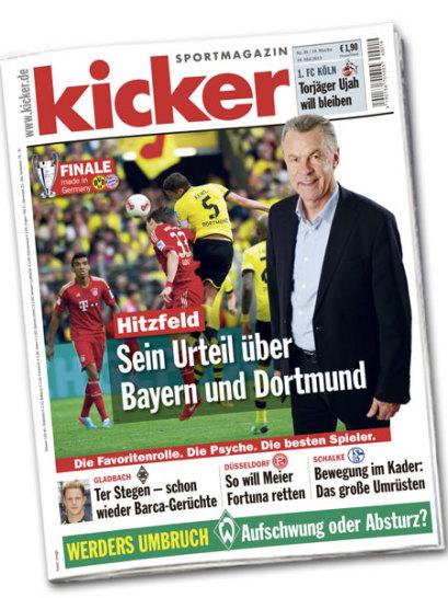 kicker-Titelseite vom 10. Mai 2013