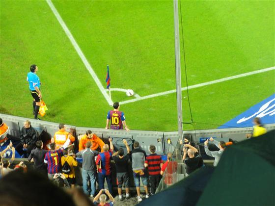 Jesus fotografiert Messi