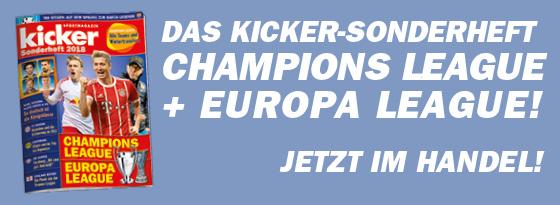 kicker Sonderheft Extra Champions League Europa League