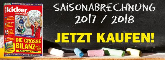 kicker Sonderheft Die große Bilanz 2017/18
