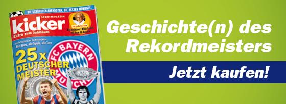 kicker Extra: Bayern München - 25x Deutscher Meister