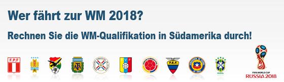 Tabellenrechner WM-Qualifikation Südamerika