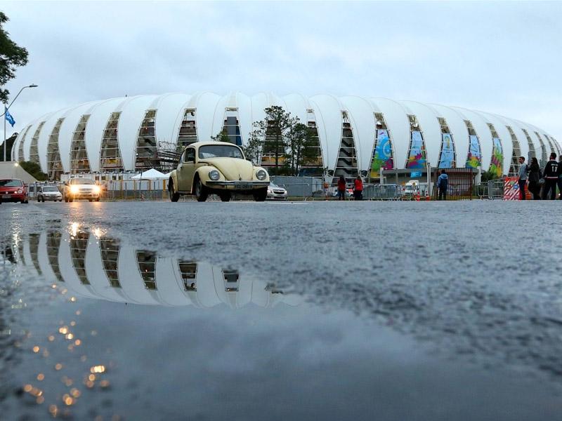 Regen in Porto Alegre